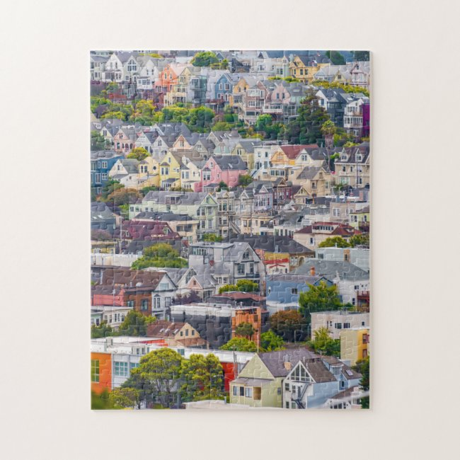 Homes on a Hillside Puzzle