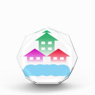 homes with cloud acrylic award
