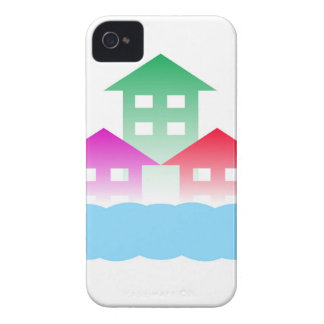 homes with cloud iPhone 4 Case-Mate case