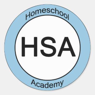 Homeschool Academy Round Stickers