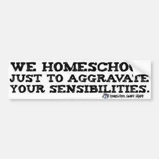 Homeschool Aggravation Car Bumper Sticker
