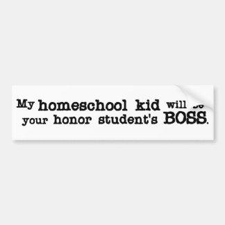 Homeschool Boss Car Bumper Sticker
