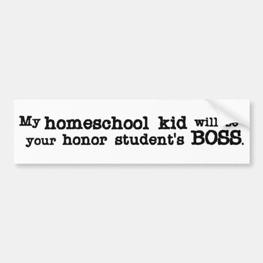 Homeschool Boss Etiqueta De Parachoque