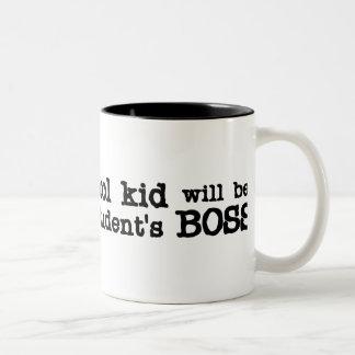 Homeschool Boss Two-Tone Coffee Mug
