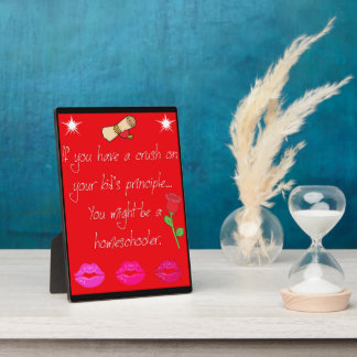 Homeschool Crush Tabletop Plaque with Easel