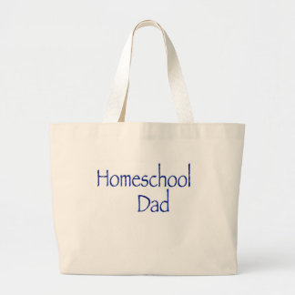 Homeschool Dad Large Tote Bag