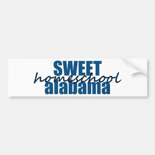 Homeschool dulce Alabama Pegatina Para Auto