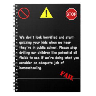 Homeschool Fail Notebook