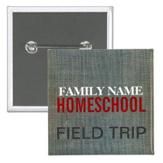 Homeschool Fieldtrip Pin Cuadrado