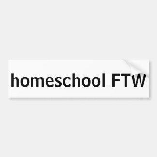 Homeschool FTW Car Bumper Sticker