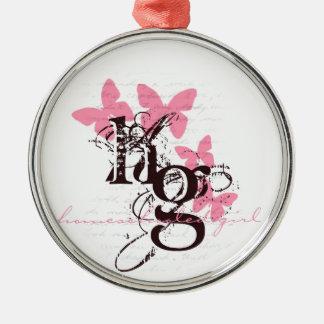 Homeschool Girl Metal Ornament