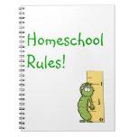 Homeschool gobierna el cuaderno