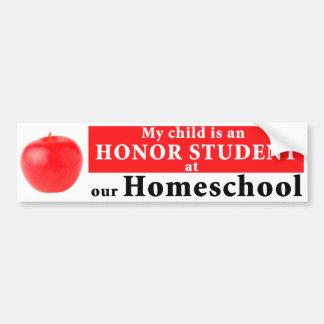 Homeschool Honor Student Bumper Sticker