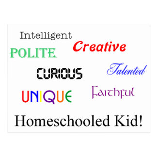 homeschool kid 2 postcard