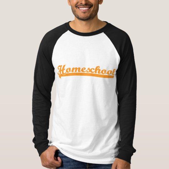 Homeschool Men's Team Raglan - Orange/Black T-Shirt