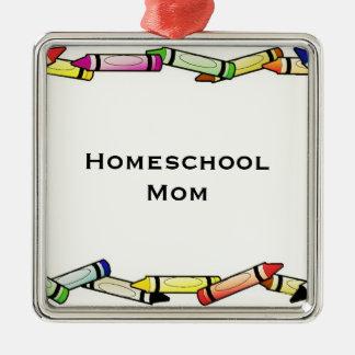 Homeschool Mom Metal Ornament