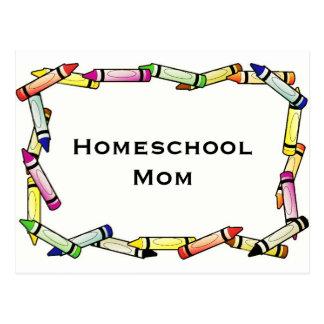 Homeschool Mom Postcard