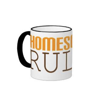 Homeschool mug: Homeschool Rules Ringer Coffee Mug