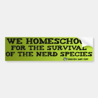 Homeschool Nerds Car Bumper Sticker