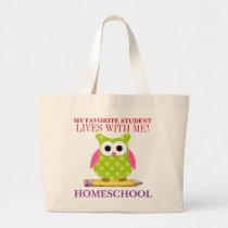 HOMESCHOOL Owl Teacher Tote Bag