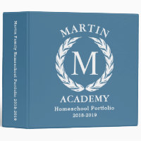 Homeschool Portfolio Binder Organizer, personalize