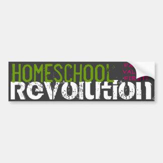 Homeschool Revolution - Family values first! Car Bumper Sticker