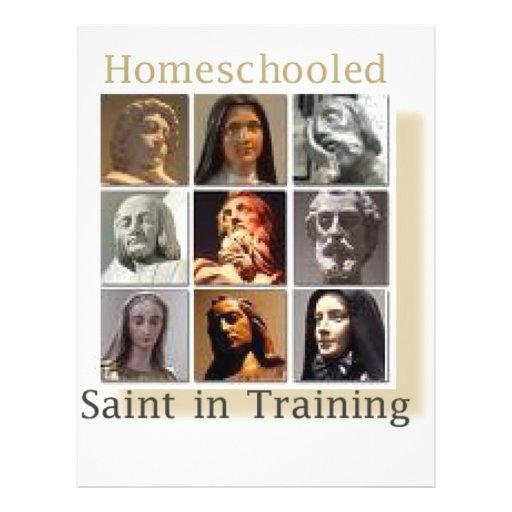 Homeschool Saint in Training Custom Flyer