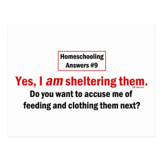 Homeschool Shelter Postcard