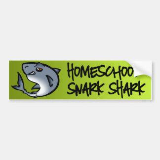 Homeschool Snark Shark Car Bumper Sticker