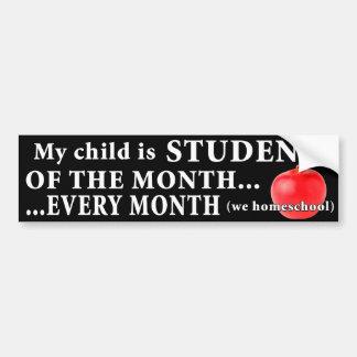 Homeschool Student of the Month Bumper Sticker