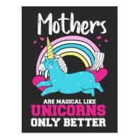Homeschool Teacher Mothers Day Family Unicorn Postcard