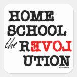Homeschool the REVOLution Square Sticker