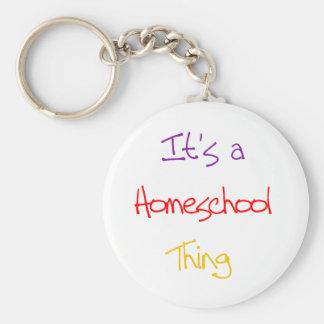 Homeschool Thing Basic Round Button Keychain