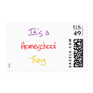 Homeschool Thing Postage Stamp