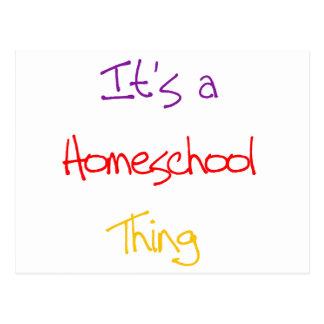 Homeschool Thing Postcard