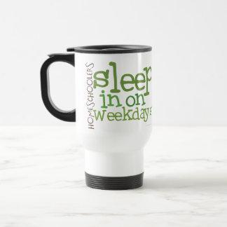 Homeschool travel mug: Sleep in 15 Oz Stainless Steel Travel Mug