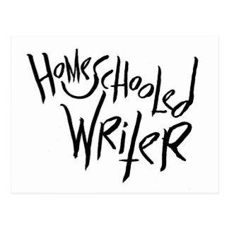 Homeschooled Writer Postcard