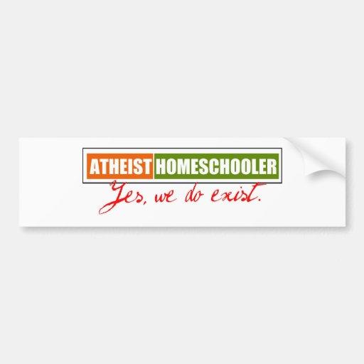 Homeschooler ateo pegatina de parachoque