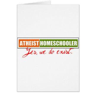 Homeschooler ateo tarjeta de felicitación