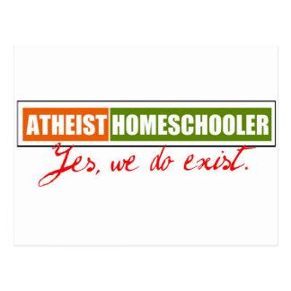 Homeschooler ateo postales