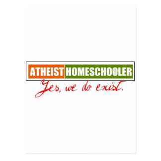 Homeschooler ateo tarjetas postales