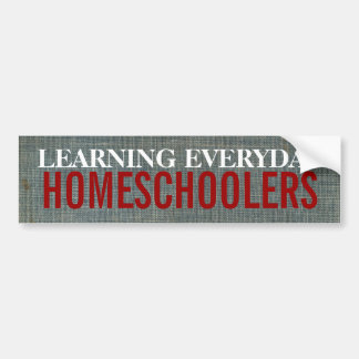 Homeschoolers Bumper Sticker
