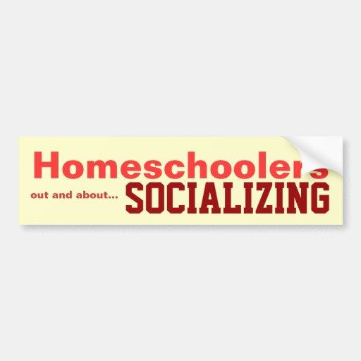 Homeschoolers - Socializing Sticker Bumper Stickers