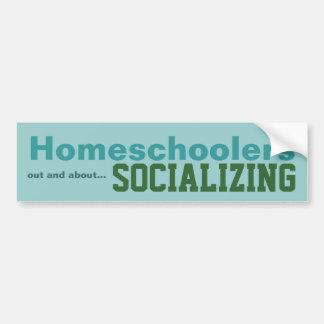 Homeschoolers - Socializing Sticker Car Bumper Sticker