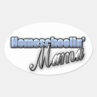 Homeschoolin' Mama Oval Stickers