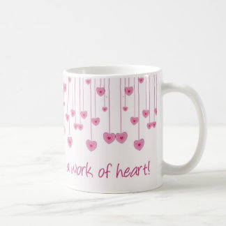 Homeschooling is a work of heart! classic white coffee mug