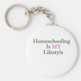 Homeschooling is MY Lifestyle Basic Round Button Keychain