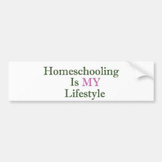 Homeschooling is MY Lifestyle Bumper Sticker