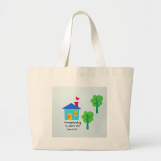Homeschooling is where the heart is! canvas bags