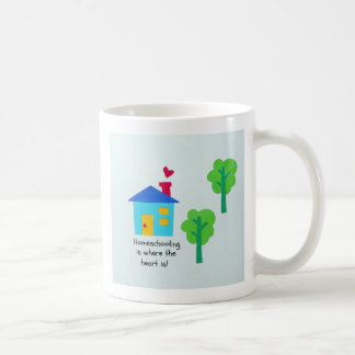 Homeschooling is where the heart is! coffee mugs
